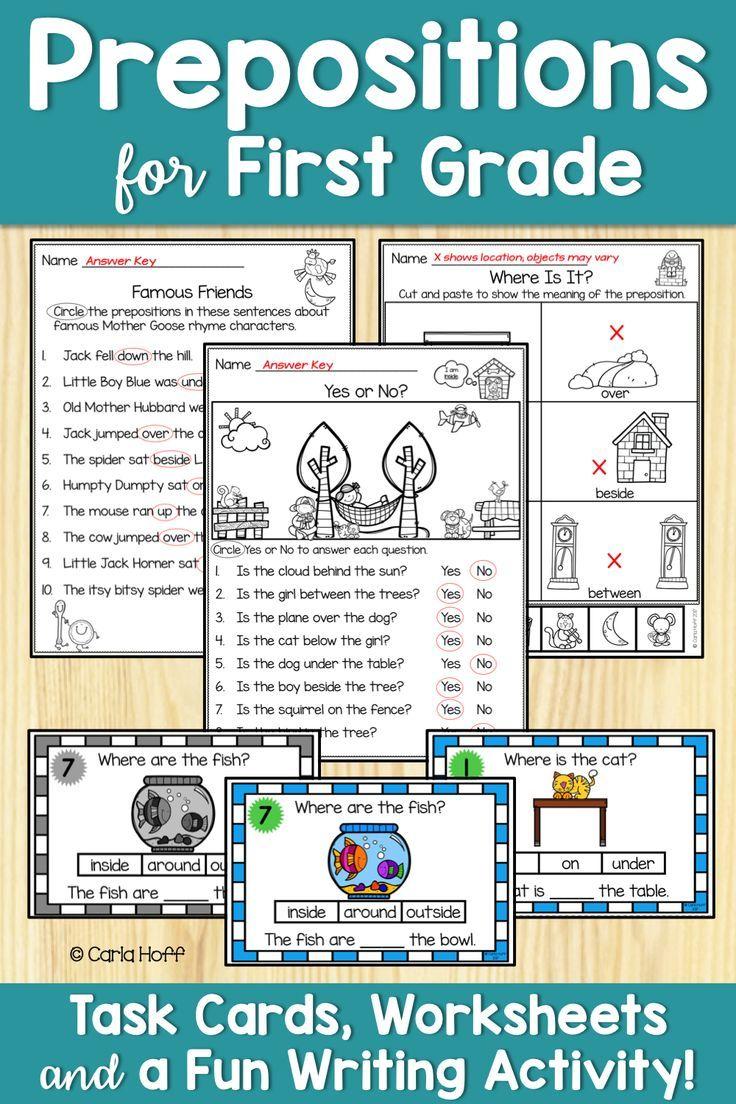 PREPOSITIONS Worksheets and Task Cards Prepositions