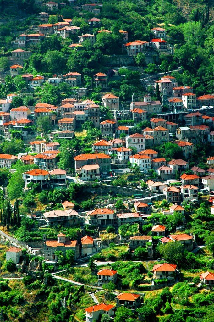 The mountain village of Langadia, Peloponnese / Greece (by DaviNet)