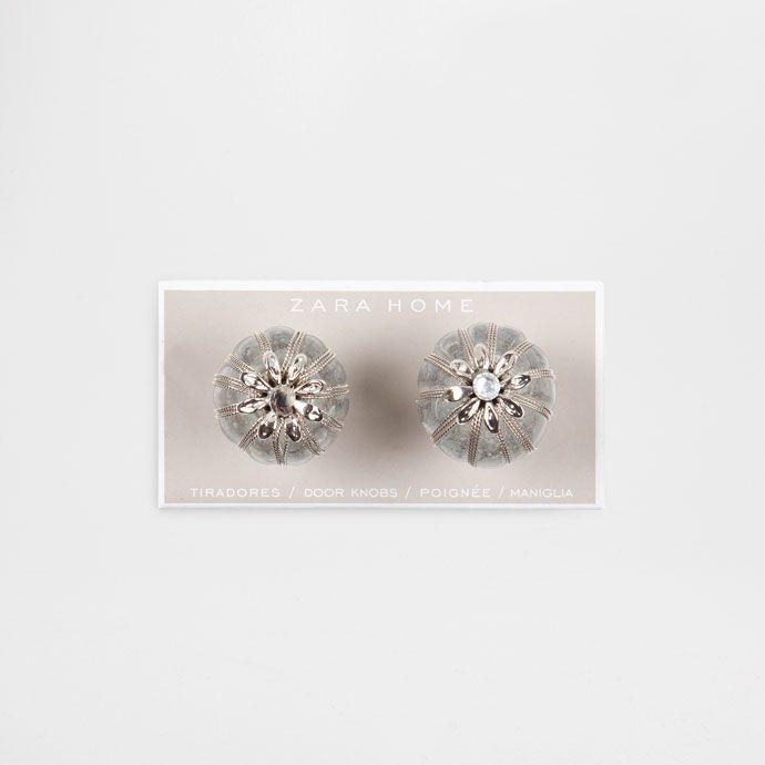 Knauf aus glas und metall doppelpack griffe Zara dekoration