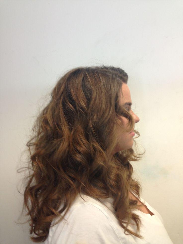 Curling hairstyles