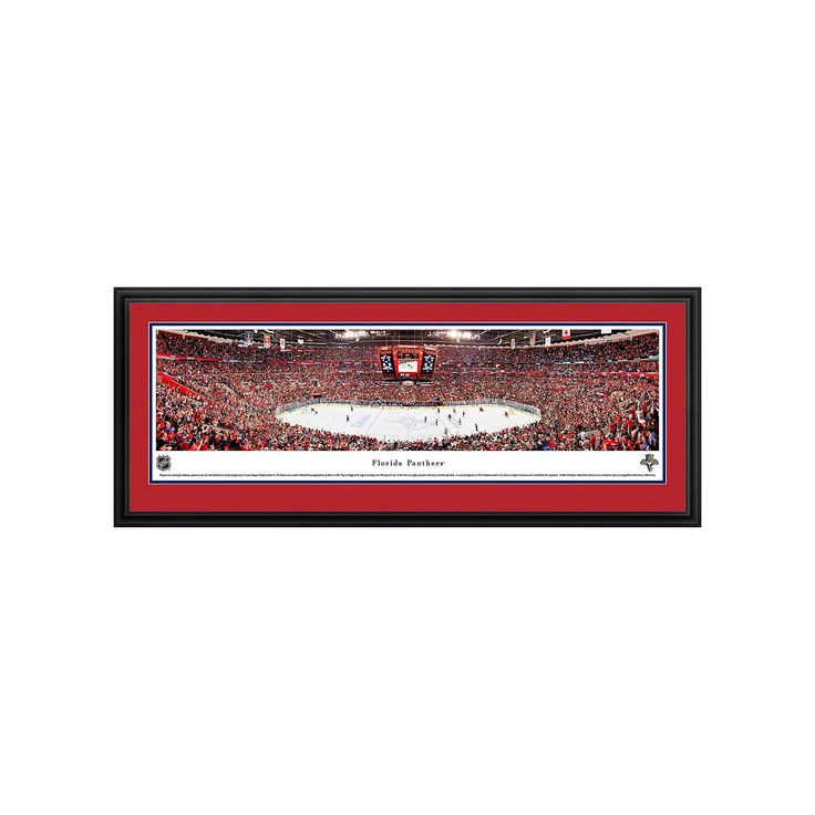 Florida Panthers Hockey Arena Framed Wall Art, Multicolor