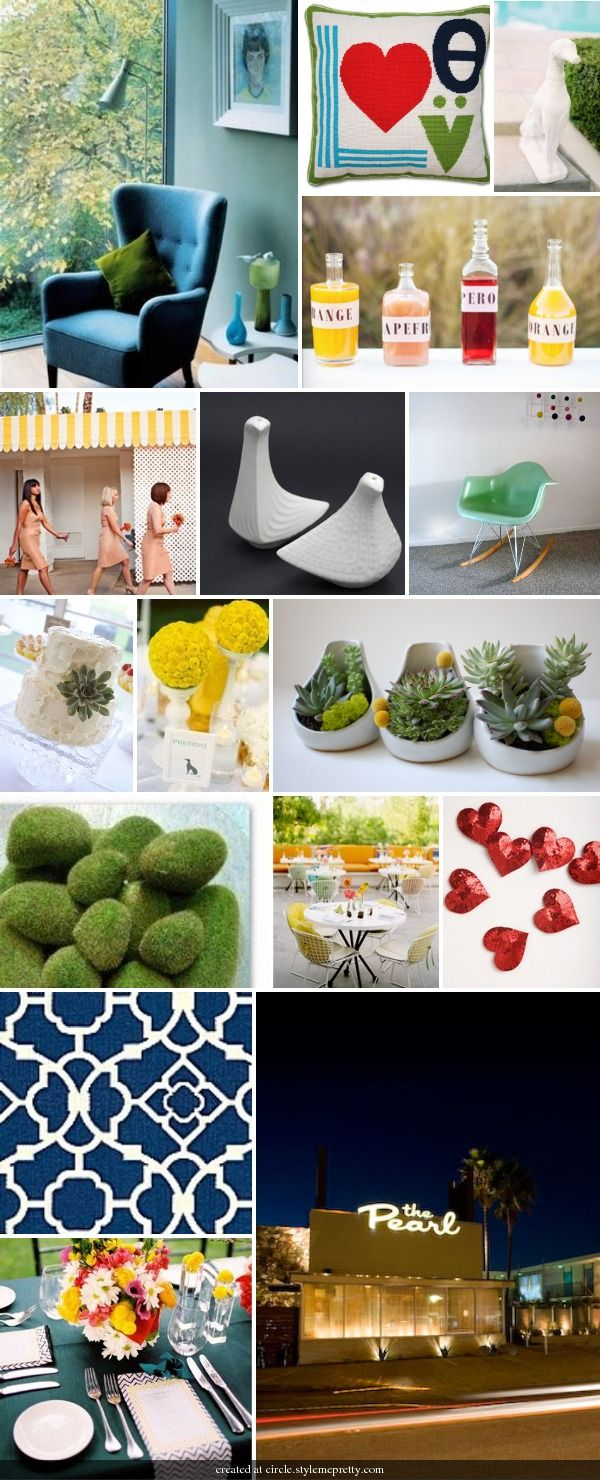 Jonathan Adler, Parker Palm Springs, Mid-Century Modern Wedding Inspiration Board