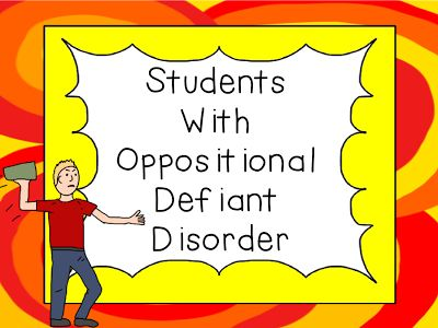 A Tender Teacher for Special Needs: Students with Oppositional Defiant Disorder and Freebie - repinned by @PediaStaff – Please Visit ht.ly/63sNt for all our pediatric therapy pins