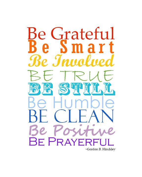 Be Attitudes - President Gordon B. Hinckley {Free Printable}