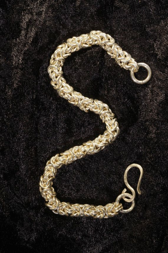 Byzantine Weave Silver Chainmaille