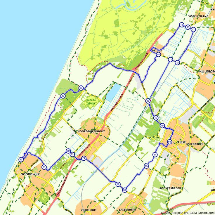 Fietsroute Bollenstreek Kustroute voor een gezellig dagje uit. (http://www.route.nl/fietsroute/196851/bollenstreek-kustroute)