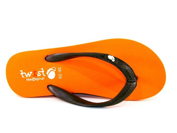 Twist Orifinal Flip-Flop Orange-Brown