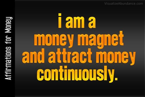 I am a money magnet and attract money continuously. http://www.30daysfinancialfreedom.com