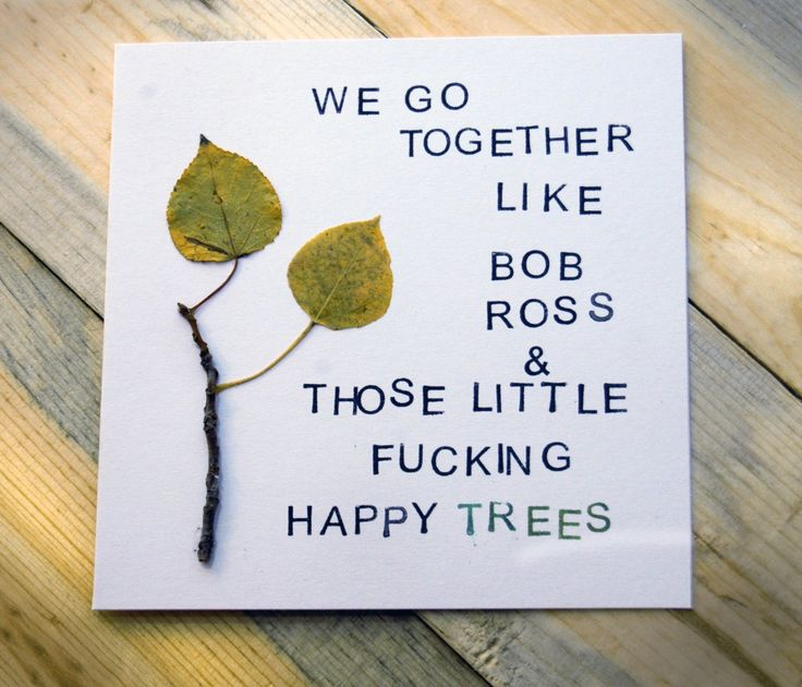 Bob Ross quotes for your wedding as seen on @offbeatbride #bobross #wedding