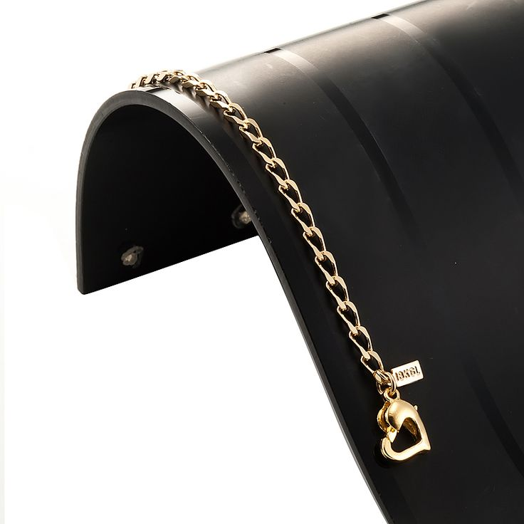 18ct Yellow Gold Layered Le Mans Babies Bracelet with Heart Clasp | Allure Gold