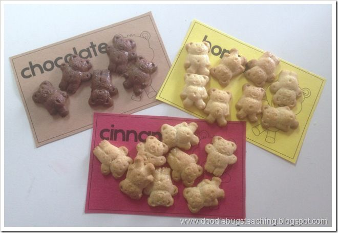 Bears! Teddy Graham Sorting and Graphing! Math Centers