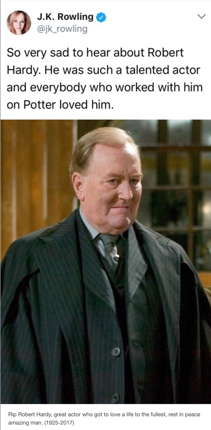 R.I.P. Robert Hardy - Cornelius Fudge - Ministry of Magic