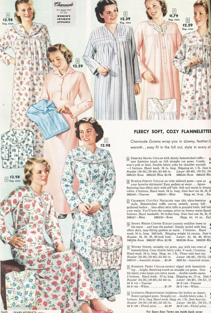 Sears, Roebuck and Co. Catalog from 1948 - Ladies Nightgowns, Girdles and Reversa-Bras!