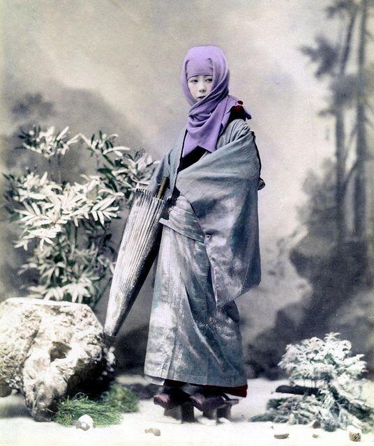 Geisha in Winter Costume 1890s by Blue Ruin1, via Flickr