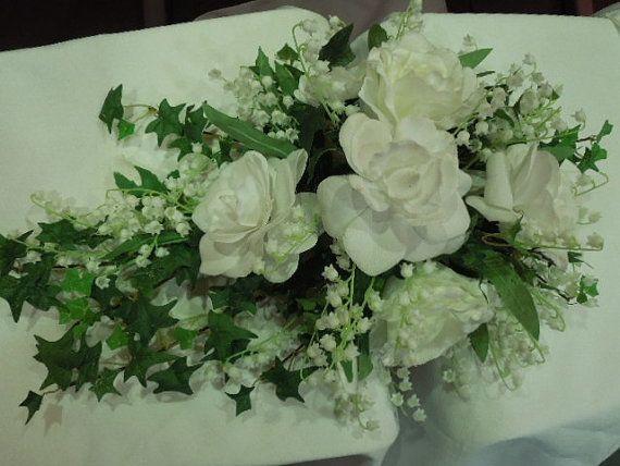 Teardrop Cascade Bridal Bouquet Stephanotis by FantasyWedding
