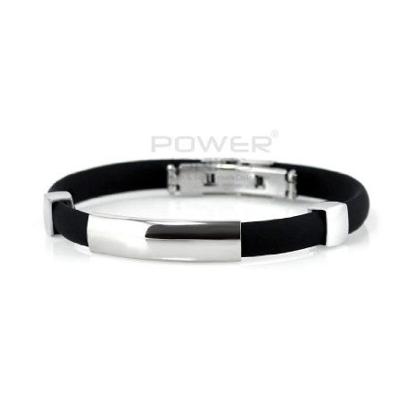 Power Ionics Healty Titanium Ion Plus Magnetic Bracelet Band-black