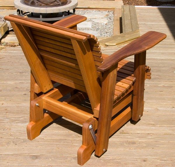 Glider Deck Chairs Adirondack Glider Chair Plans Woodworking Projects Plans In 2020 Woodworking Plans Glider Chair Woodworking Plans Glider Rocker Woodworking Plans