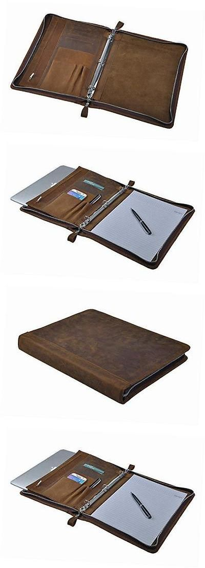 Pens and Pencils 102953: Rustic Leather Padfolio With 3-Ring Binder For Letter A4 Paper, 11-Inch Macbook -> BUY IT NOW ONLY: $141.47 on eBay!