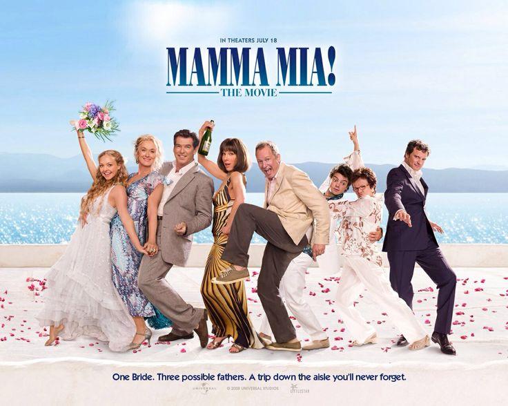 Mamma Mia...2008 Universal Pictures musical  with Meryl Streep, Amanda Seyfried, Pierce Brosnan, Dominic Cooper, Stellan Skarsgård, Colin Firth, Julie Walters, Christine Baranski, Ashley Lilley, and Rachel McDowall.