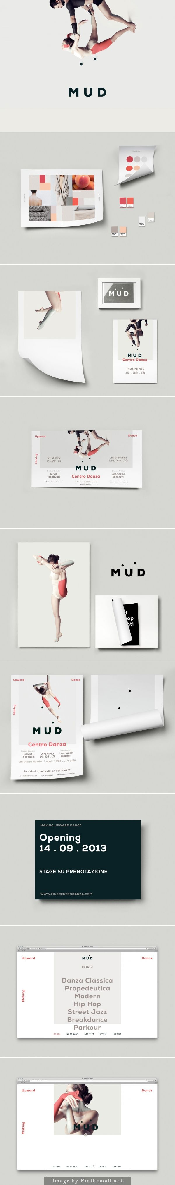 Unique Branding Design, M.U.D http://www.theclocksmiths.it ーーーーーーーーーーーーーーー I love how they incorporated design and dance!!!