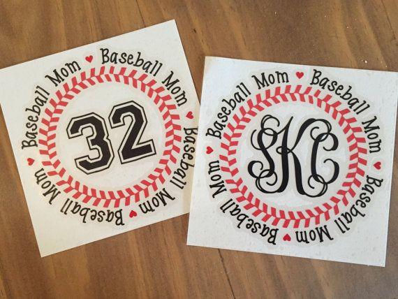 Custom Baseball Decal Sports Decal Custom Baseball by ScKreations