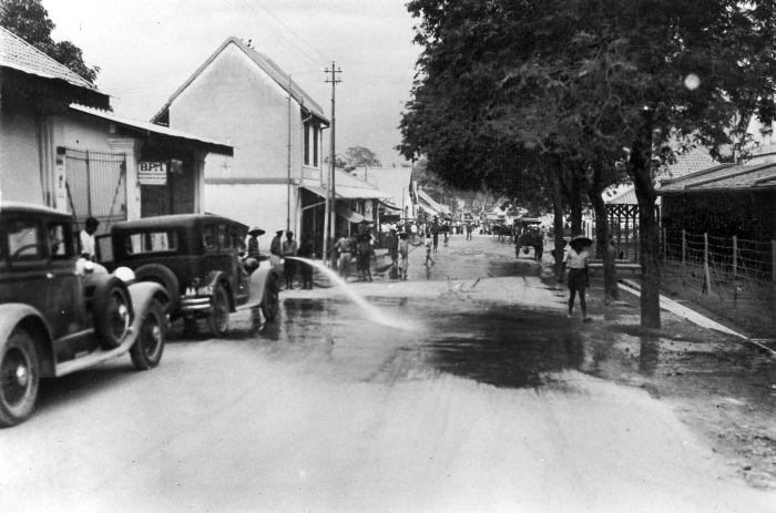 Magelang after Mount Merapi explosion, 1930.