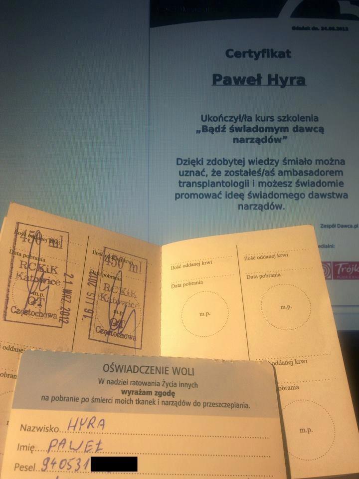 3x krew pełna + oczekiwania na badania z DKMS    Fot: Paweł Hyra