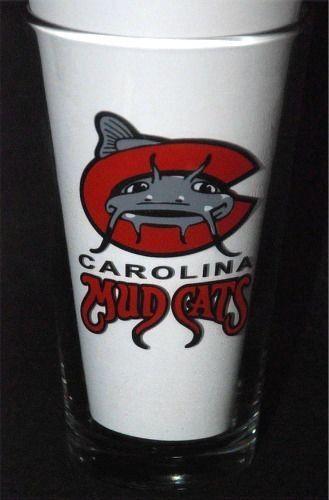 Carolina Mudcats Minor League Baseball -Pint Glass- Budweiser -Milwaukee Brewers #Budweiser