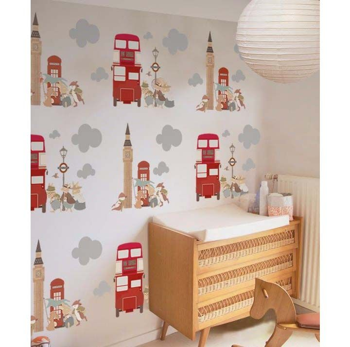 London inspired wallpaper | Kids room design and decor | Ideas, tips and inspiration