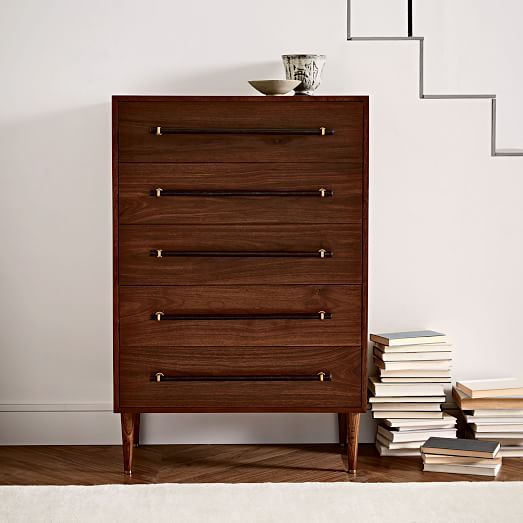 Benson 5-Drawer Dresser - Dark Walnut | west elm $900