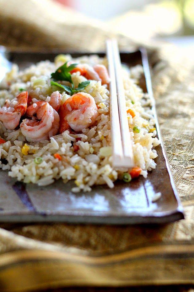 Khao Pad Goong - riso saltato con i gamberi