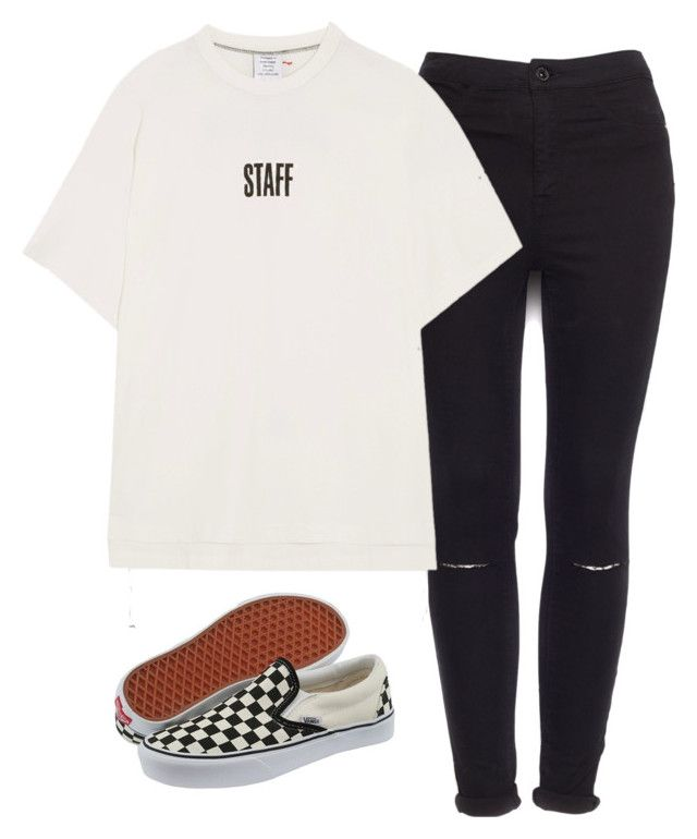 """Sin título #1235"" by ariannastradlin ❤ liked on Polyvore featuring Pull&Bear, Vans and Vetements"
