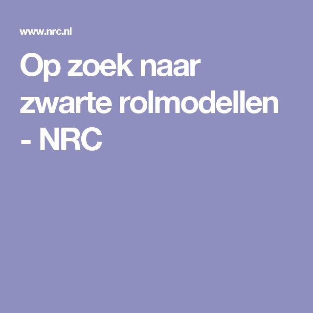 Op zoek naar zwarte rolmodellen - NRC