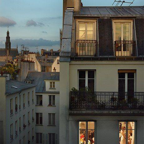 Cinematic views of Parisian architecture