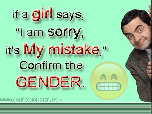 Make sure that you confirm the gender..