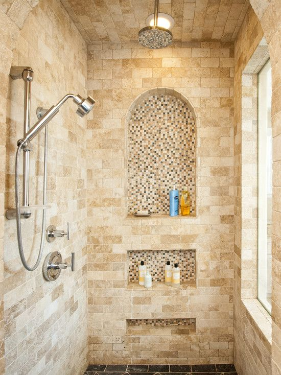 tile ideas decorative shampoo niche shower nichemaster bathroom