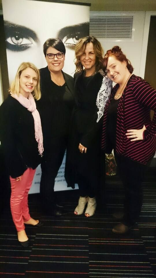 O Cosmedics owner Marie Cocciolone with the In Therapy management team.