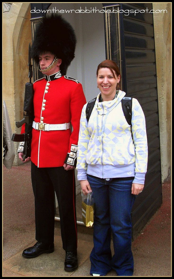 """Make a guard smile - or at least try to - at Windsor Castle, London. Find out more at """"Down the Wrabbit Hole - The Travel Bucket List"""". Click the image for the blog post."""