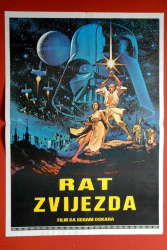 Star Wars Jung Art Sci Fi Lucas 1977 Harrison Ford RARE Exyugo Movie Poster   eBay