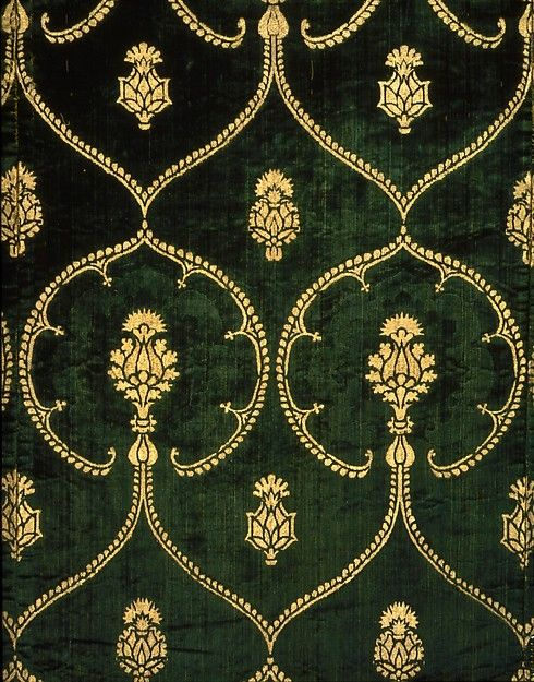 Dalmatic Date: 15th century Culture: Italian Medium: Silk; metal Dimensions: From center back neck: 42 1/4 x 53 1/4 in. (from sleeve hem to sleeve hem) (107.3 x 35.2 cm) Classification: Textiles-Ecclesiastical