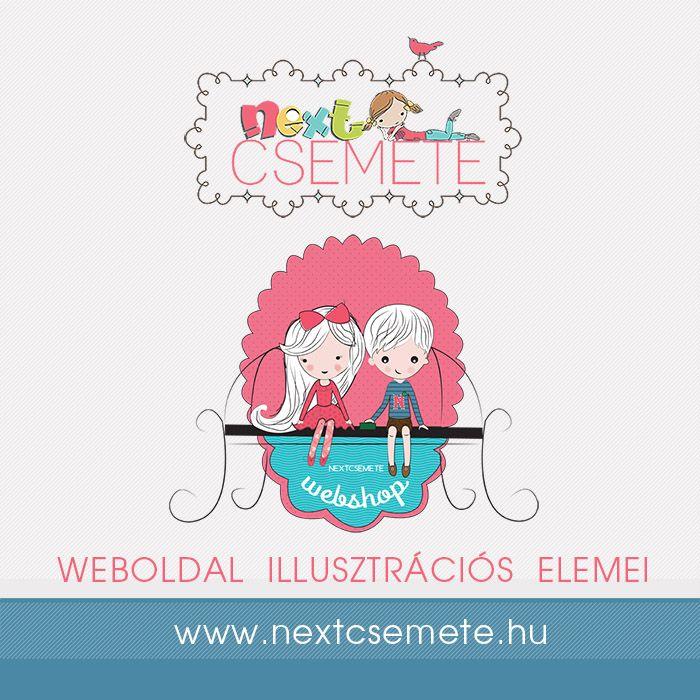 Webshop illusztrációi