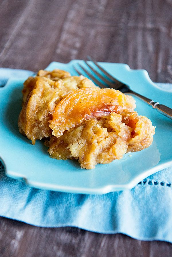 Peach Slow Cooker Dessert | 23 Slow Cooker Desserts You Need To Make This Winter