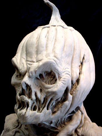 Caliban v/s Ferdinand - Interesting pumpkin mask. I love the melted-looking bits.