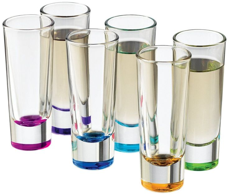 Libbey Troyano Colors Shot Glass Set, 6-Piece By Libbey Ooo