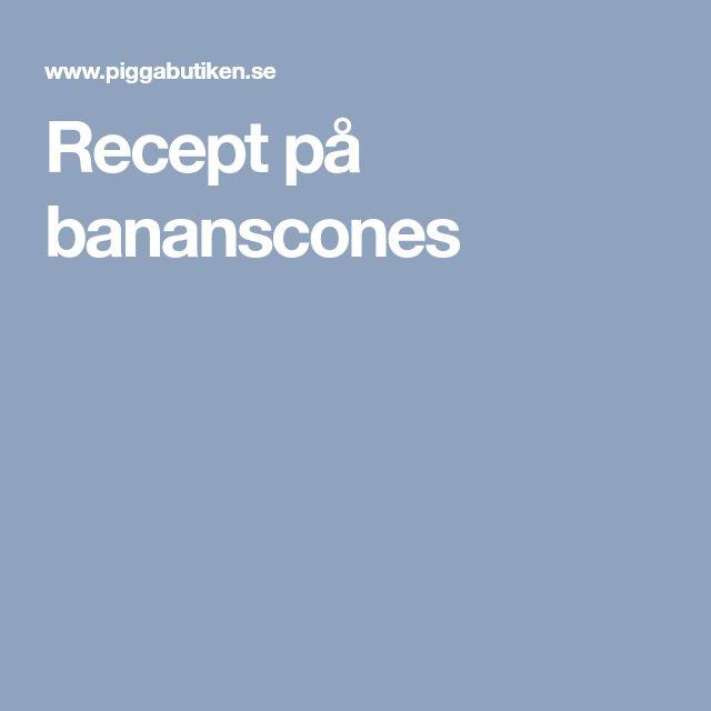Recept på bananscones