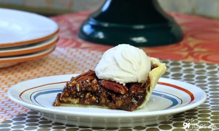 gluten free pecan pie slice with so delicious - gfJules