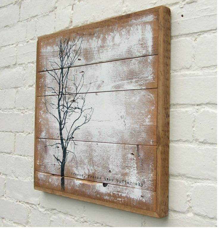 Art on recycled boards ev dekor pinterest board for Reclaimed wood dc