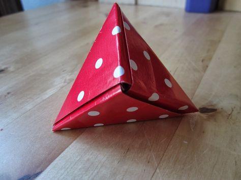 doosje vouwen driehoek