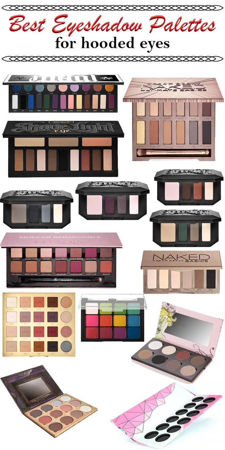 Best Eyeshadow Palettes for Hooded Eyes