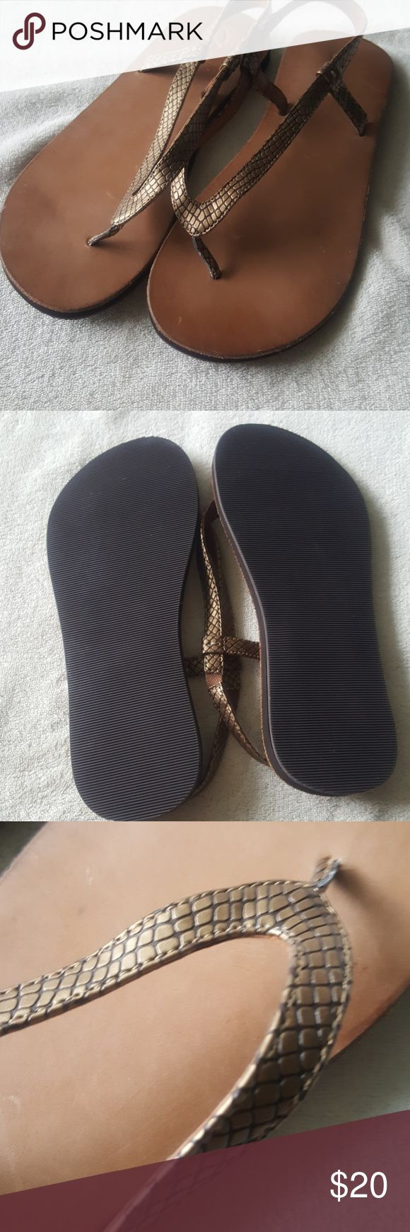NWOT Clarks Sandals Textured print on straps, sling back style. Leather material on the top. Clarks Shoes Sandals